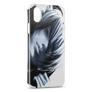 Coque iPhone XS Max Tete Black and White Manga