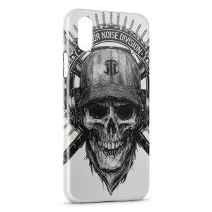 Coque iPhone XS Max Tete de mort Terror