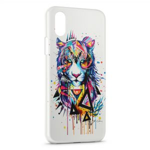 Coque iPhone XS Max Tiger painted