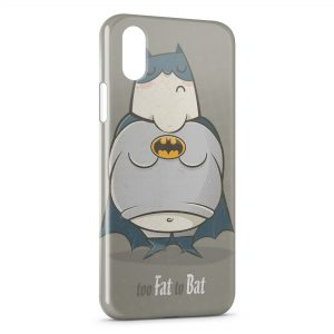 Coque iPhone XS Max Too Fat to Bat Batman