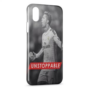 Coque iPhone XS Max Unstoppable Football Cristiano Ronaldo
