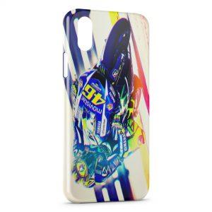 Coque iPhone XS Max Valentino Rossi Moto Graphic Art