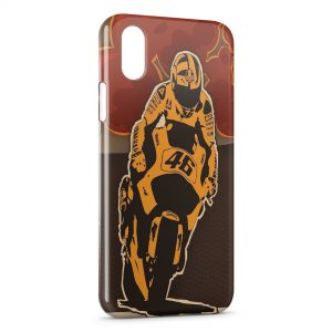 Coque iPhone XS Max Valentino Rossi Moto Graphic Design