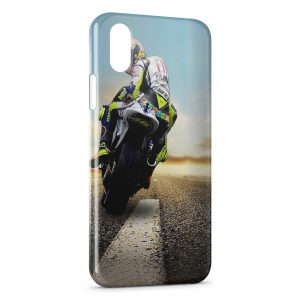 Coque iPhone XS Max Valentino Rossi Moto On Road 3