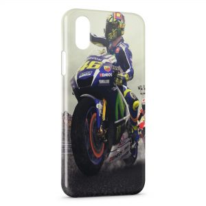 Coque iPhone XS Max Valentino Rossi Moto On Road Sport 6