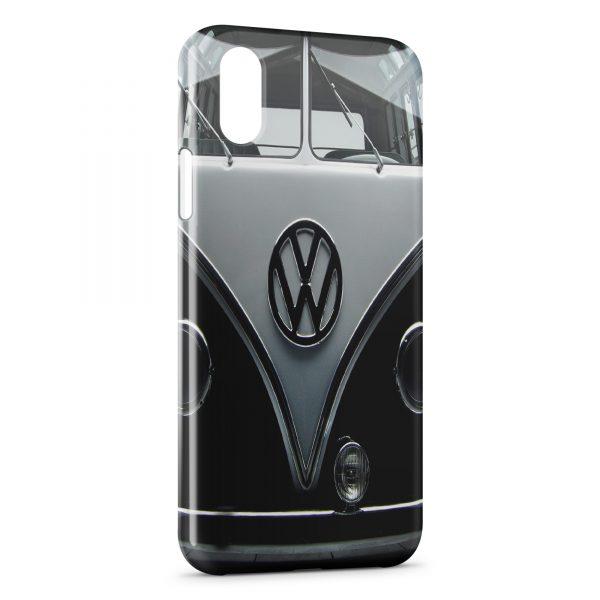 Coque iPhone XS Max Volkswagen Van Black Vintage