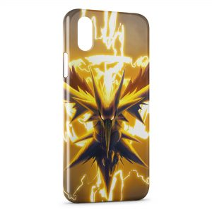 Coque iPhone XS Max Zapdos Pokemon Oiseau 2