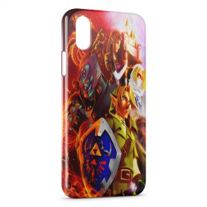 Coque iPhone XS Max Zelda Link Game