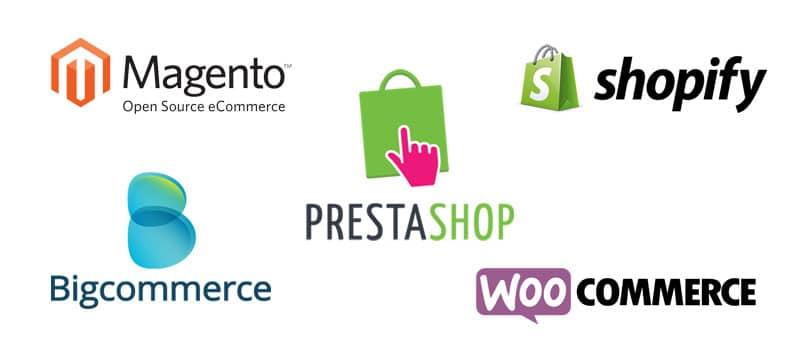 Prestashop Woocommece Shopify Magento