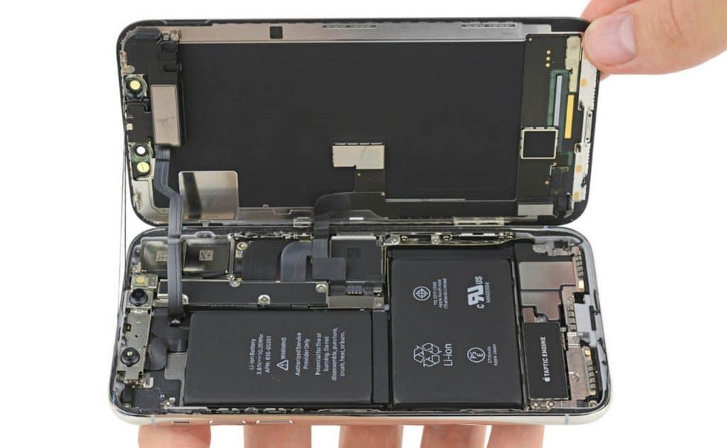 batterie de l'iPhone X