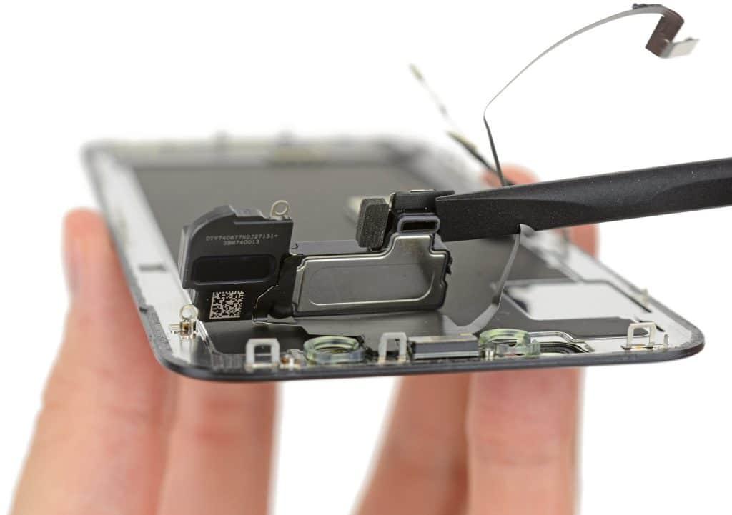 haut parleur interne de l'iPhone X